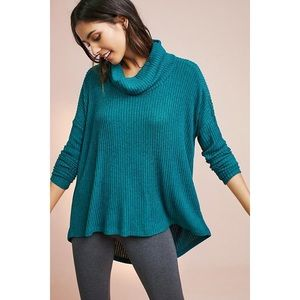Saturday/Sunday Teal Brushed Cowl Neck Pullover